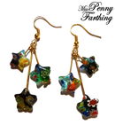 Millefiori Star Earrings by MissPennyFarthing