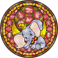 Dumbo Stained Glass by Maleficent84