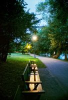 Lonely Benches by nickick