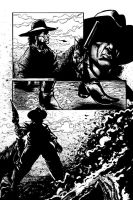Western Comic Iss 1 pg2 Inks by RNABrandEnt
