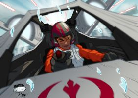 Poe in the Cockpit by AdamMasterman