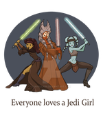 Everyone loves a Jedi Girl by khallion