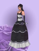 Goth Wedding Dress by Cartoon-Trash
