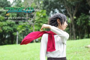 Setsuna F. Seiei :: The Will to Protect by Allenisya