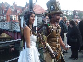 Steampunkoverlord and co-pilot by overlord-costume-art