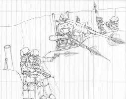 Soldiers fighting by tactican