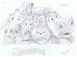 Madagascar characters by ConkerTSquirrel