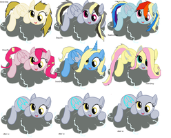 Adoptable Shipping Ponies Set 1- Derpy by StarSwirl12