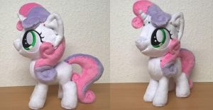 Sweetie Belle Minky Plush WIP Step 2 by JusticeOfElements