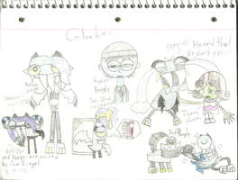 Mixels - Glowkies sketches by worldofcaitlyn