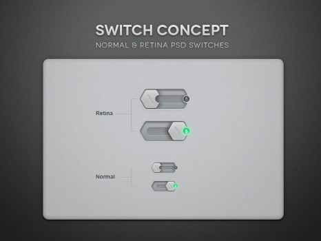 Free Psd Toggle Switch UI by Pixeden