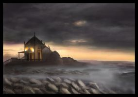 Landscape Speedpaint - Haunted by Temiree