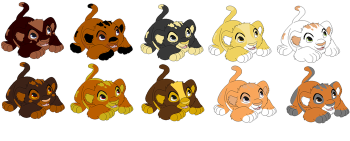 Lion Cub Adoptables [2-5 POINTS/OPEN] by makeradopts