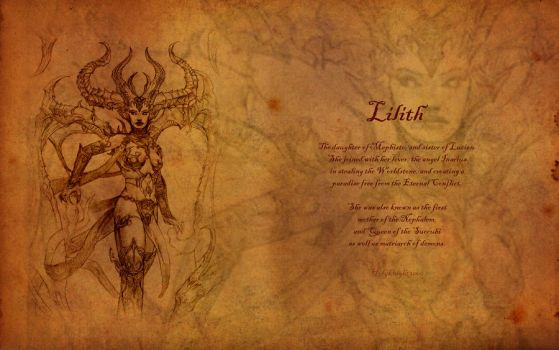 Lilith, First Mother of the Nephalem by Holyknight3000