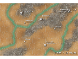 Sci-Fi/Fantasy Mini-Game: Overland Map by WhoDrewThis