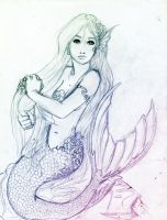 Fantasy mermaid by Kaleid0