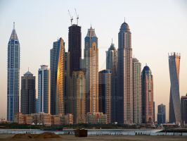 dubai skyline by NiVosta