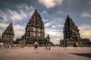 Hustle at Prambanan Temple by Noah0207