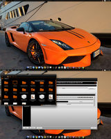 Black-n-Orange Chakra Linux KDE by CraazyT