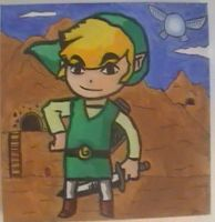 Toon Link painting by Chaoslink1