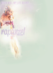 Traci Hines as Rapunzel TwitBG by Tiinkerbellx3