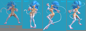 XNALara - Felicia Poses - MvC2 and MvC3 (NEW RIG) by Kaiology