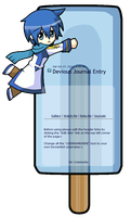 Kaito Popsicle Journal Skin by KittiRawr