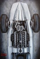 Auto Union Type D 1939 Painting by tonio48