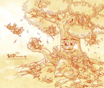 WIP tree pixie's life by ambientdream