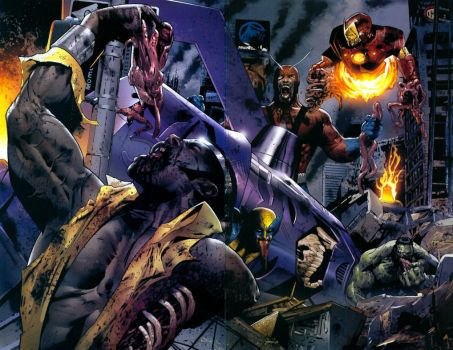 Marvel zombies by Beyonder001