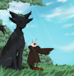 Birb: LET'S GO! - Nyarumi: Five minutes more... by KasuSei