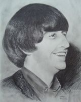 Ringo Starr by aruanahansel