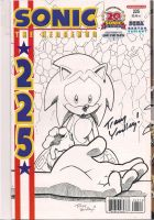 autograph sonic comic book by Tracy Yardley! by unforgiven1228
