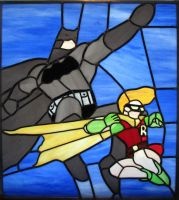 The Dark Knight Returns Stained Glass by AutobotWonko