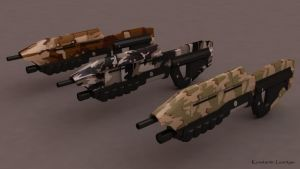 Halo Assault Rifles by KonstantinL