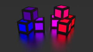 Glowing cubes V3 by Cubicay