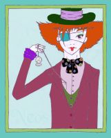 Mad Hatter's clock by Neos-raven