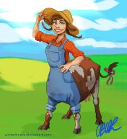 Happy Cowgirl by WinterHeath