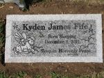 My Son's Headstone by shayfifearts