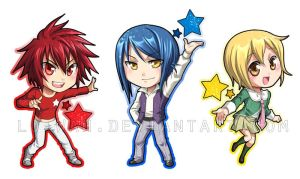Star Driver chibi-Keychains by Lo-wah