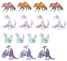 Monster Color Variations by bananamantis