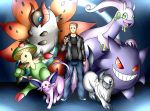 Commission: Animangst Pokemon Team by Smudgeandfrank