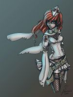Red Cross Girl - Color by disposableheroine