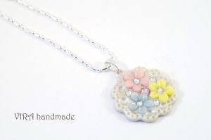 Floral necklace by virahandmade