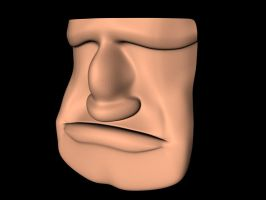 3d Character face by MaxwellMcNarrow