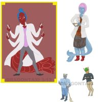 Anthros-Lobster, whale, koala, deer by dragontaxi