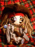 Cpt Sparrow - front with accessories by Kira-Kat