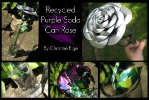 Soda Can Rose - Purple Full by Christine-Eige