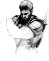 Chris Redfield-Work in progress#1 by GabrielArtist