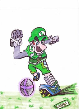mario strikers charged: Luigi by DrGengar